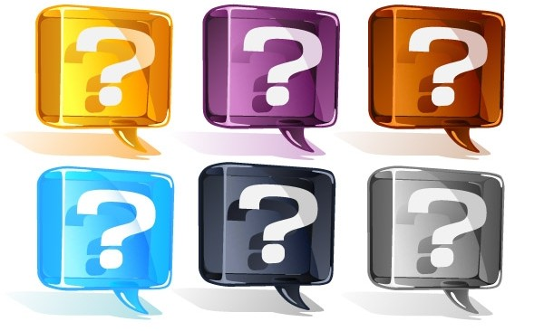 3582-Colorful-Question-Mark-Vector-Set-