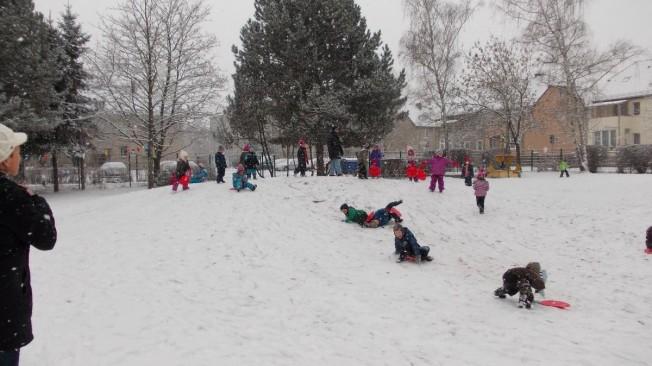 Schnee in Kita 104