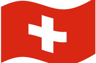 Flagge Schweiz gebogen
